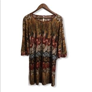 Uncle Frank Anthropologie feathered dress sz small